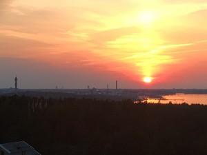 Solnedgång över Djurgården
